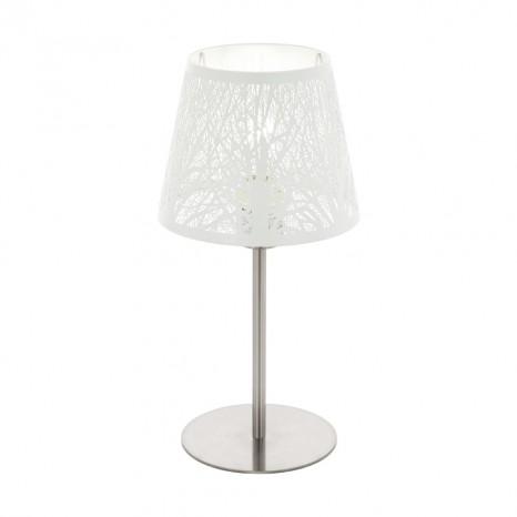 Hambleton, Höhe 38,5 cm, nickel-matt/weiß, mit Cut-Outs