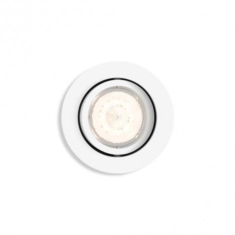 Shellbark, rund, weiß, WarmGlow