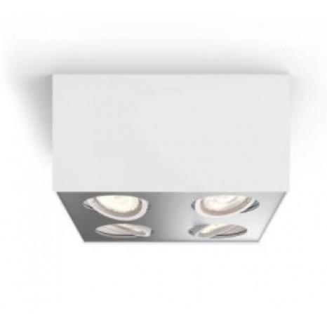 Box, LED, IP20, 4-flammig, dimmbar, weiß
