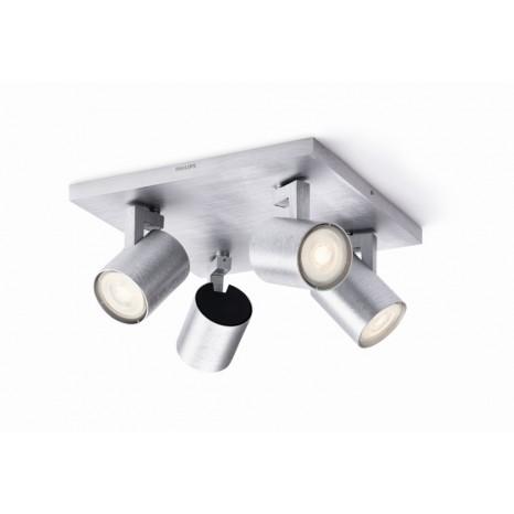 Runner LED, 4-flammig, aluminium