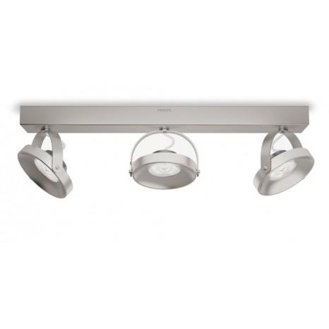Spur, LED, 3-flammig, schwenkbar, dimmbar, metallisch