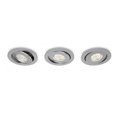 Asterope, Stahl, gebürstet, grau, 3er-Set