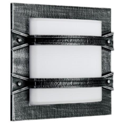 Endamo Breite 30 cm schwarz-silber 1-flammig rechteckig