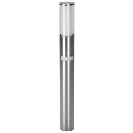 Pollerleuchte, E27, IP44, Höhe 90 cm, mit Bewegungsmelder, metallisch