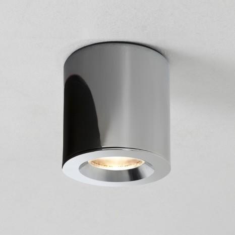 Kos (7175), LED, rund, IP65, Ø 8 cm, chrom
