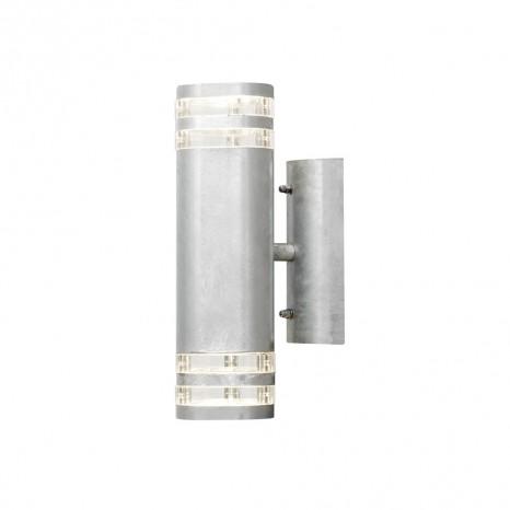 Modena Wandleuchte, Höhe 28,5cm, galvanisierter Stahl
