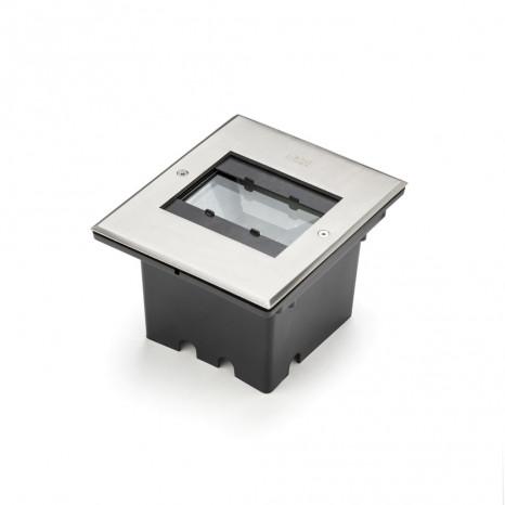HPLED Breite 15,5 cm metallisch 1-flammig eckig