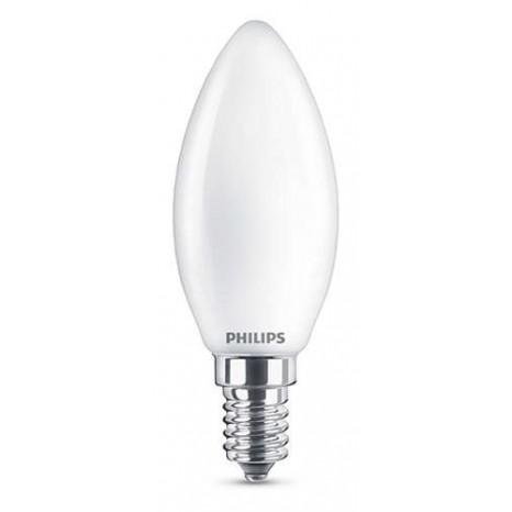 LED E14, 4,3W (ersetzt 40W), warmweiß, matt, nicht dimmbar