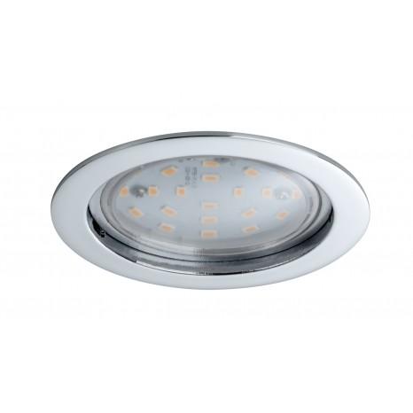 Coin klar rund starr LED 1x14W 2700K 230V Chrom