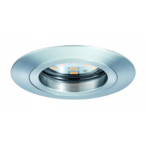 Coin dimmbar klar starr LED 3x7W 2700K Alu