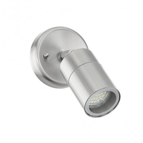 Stockholm 1, LED, IP44, 1-flammig, schwenkbar, metallisch