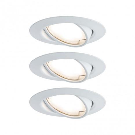 Base Ø 9 cm weiß rund schwenkbar 3er-Set 3-Stufen-dimmbar
