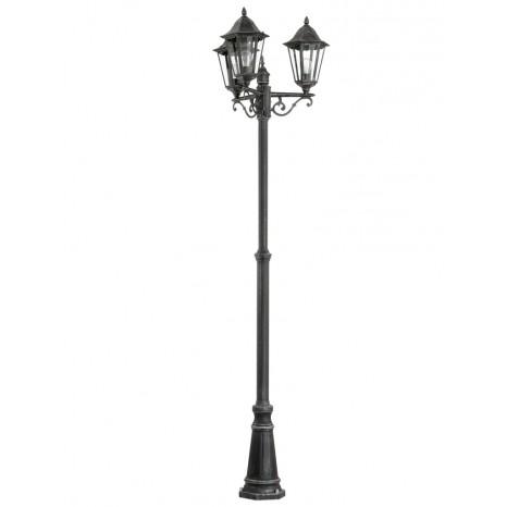 Navedo, E27, IP44, Höhe 220 cm, schwarz