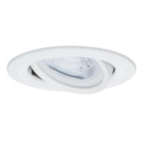 Premium, EBL, Nova rund schwenkb max 35W 230V GU10 51mm Weiß matt/Alu Zink