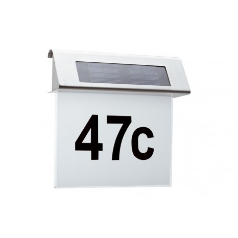 Special Line Solar House Number