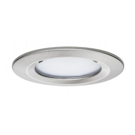 Premium EBL Set Coin Slim, rund starr LED 1x6,8W 2700K 230V 51mm Eisen g/Alu