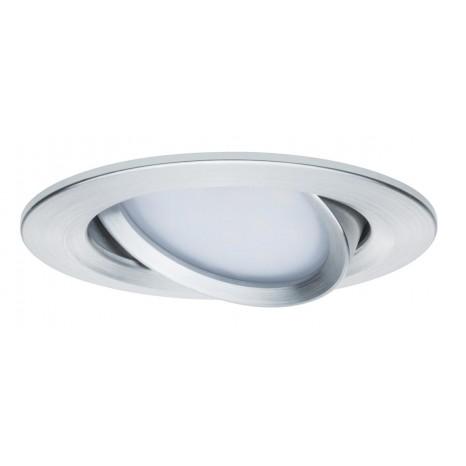 Coin Slim, LED, IP23, dimmbar, schwenkbar, 3er-Set, metallisch