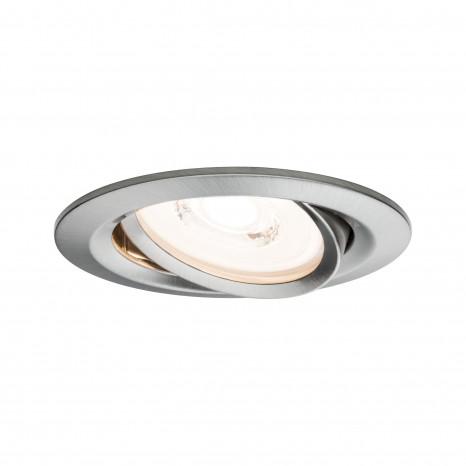 Reflector Coin Ø 8,4 cm Eisen-gebürstet 3er-Set dimmbar schwenkbar
