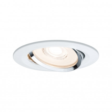 Reflector Coin Ø 8,4 cm weiß/chrom dimmbar schwenkbar