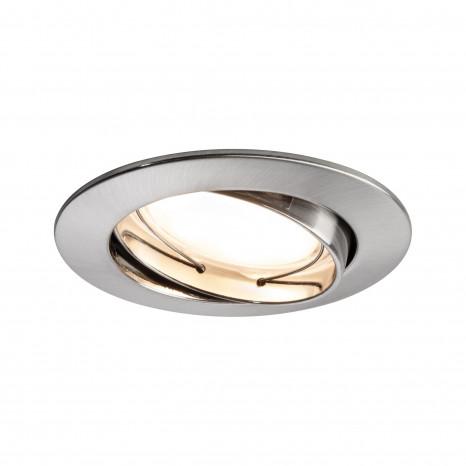 Coin Ø 8,3 cm Eisen-gebürstet rund 3er-Set dimmbar und schwenkbar