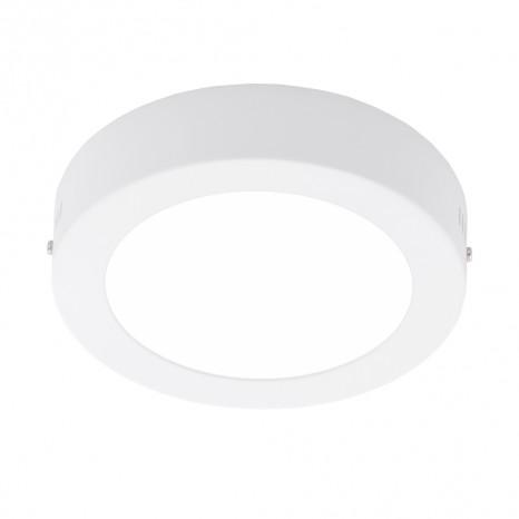 Fueva 1, LED, Ø 17 cm, Höhe 3,5 cm, weiß