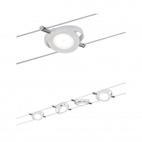 RoundMac Seil-Set, LED, 4-flammig, weiß