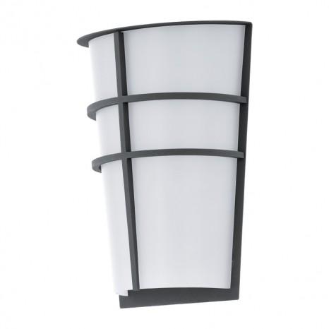 Breganzo, Höhe 25 cm, IP44, inkl LED, anthrazit- weiß