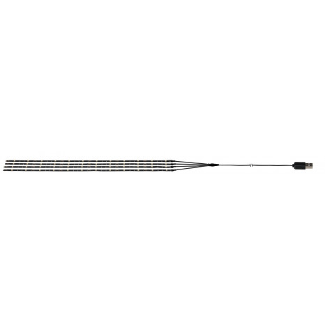 Mobile Strip Parasol-Light, LED, mit USB-Stecker, selbstklebend, schwarz