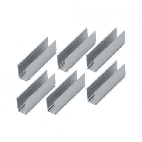 Outdoor Plug&Shine Neon Stripe Clip 6er-Set Breite 5 cm metallisch eckig