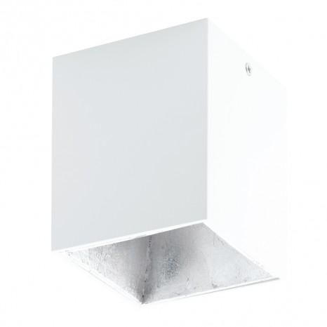 Polasso, 10x 10cm, inkl. LED, Weiß/ Silber