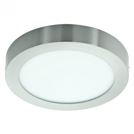 Fueva 1, LED, Ø 22,5 cm, nickel-matt
