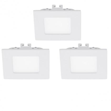 Fueva 1, LED, 3er-Set, 8,5 x 8,5 cm, 3000K, weiß