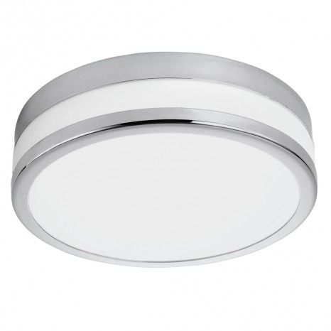 LED Palermo, Ø 29,5 cm, IP44, chromfarben