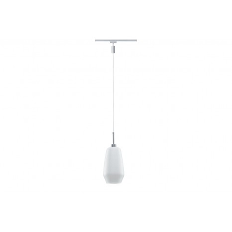 URail Systems LED Pendulum Remo, 1x3W Chrom matt/Satin 230V Glas