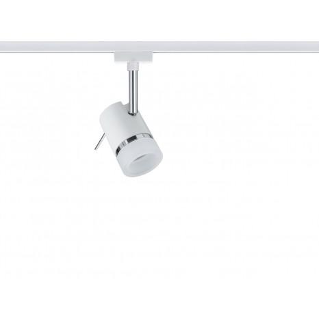 URail Spot Pipe, weiß-chrom, ohne Leuchtmittel, max. 10W GU10
