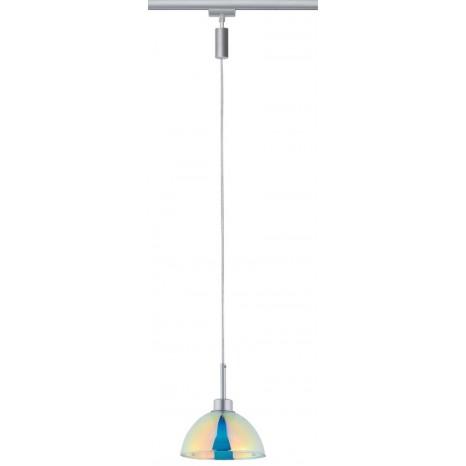URail Pendel Sarrasani max 1x10W GU10 Chrom matt/Dichro 230V Metall Glas