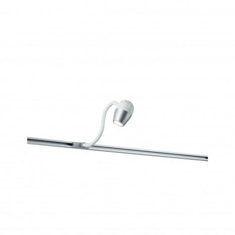 URail Knob 7,5 x 5,1 x 38,0 cm chromfarben/weiß 1-flammig