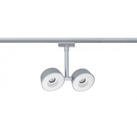 URail Systems Spot Double Pellet, 2X4W, matt-weiß, Metall