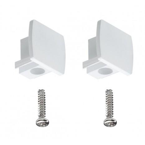 URail Universal Endcap, 2er Pack, weiß, Kunststoff