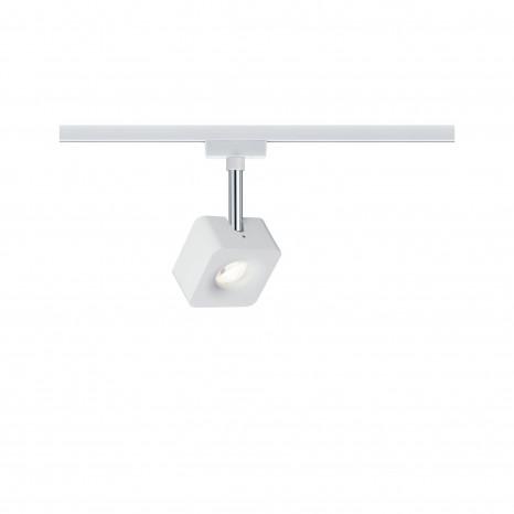 URail Cube 16,5 x 7,7 x 4,7 cm chromfarben/weiß 1-flammig eckig