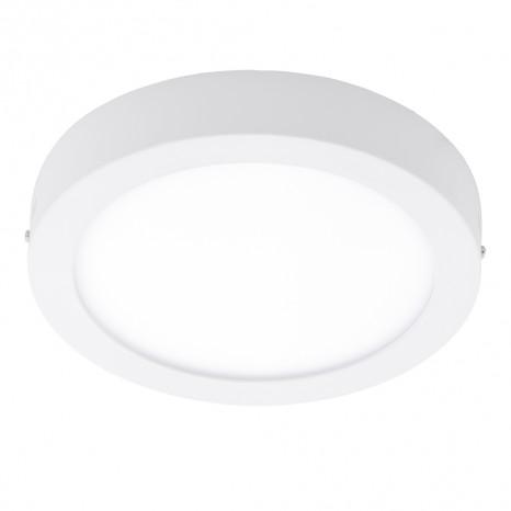 EGLO Fueva 1, Ø 30 cm, Höhe 4 cm, IP44, warm white, weiß