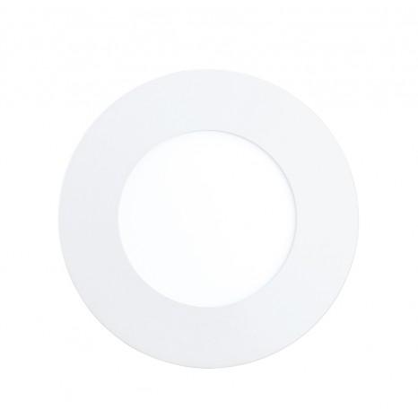 Fueva 1, Ø 8,5 cm, 3000K, IP44, weiß