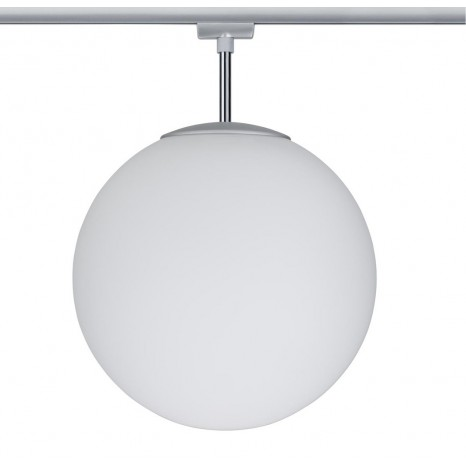 URail Ceiling Globe Big max 1x20W E27 Chr m/Opal 230V Metall/Glas dimmbar