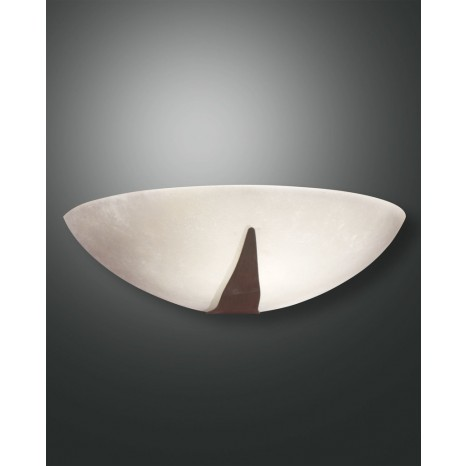 Nadia, dunkel rostfarbig, zentrifugiertes Glas, Scavodekor, 1X75W