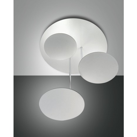 Fullmoon LED, weiß, Metall/Methacrylat, weiß/satiniert, 3000lm, 36W
