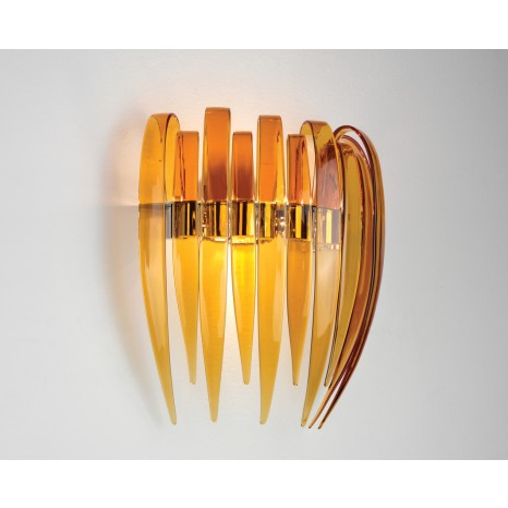 Dracena P60 G9 Glossy Amber Chrome Frame