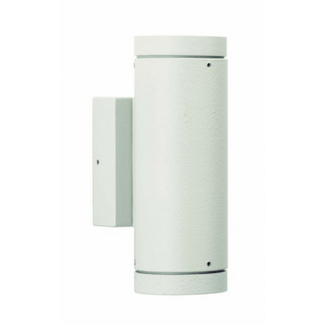 Geralde Höhe 20 cm weiß 2-flammig zylinderförmig