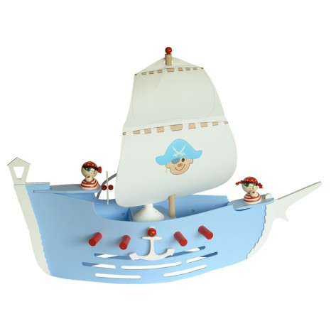 Elobra Piratenschiff hellblau, Länge 60 cm