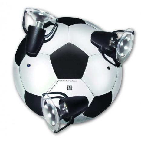 Fußball Round Schwarz-weiß