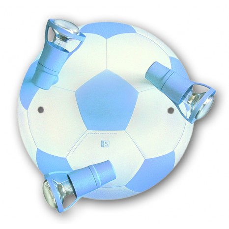 Fußball Round hellblau